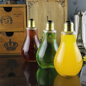 Unique Summer Light Bulb Shape Water Bottle