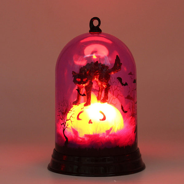 Halloween Pumpkin Witch Table Light Lamp