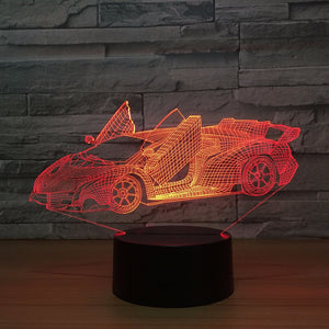 Acrylic 3D Lamp 7 Color Change Night Light