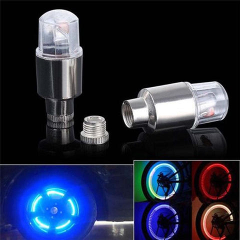 2pcs LED Tire Valve Stem Caps Neon Light