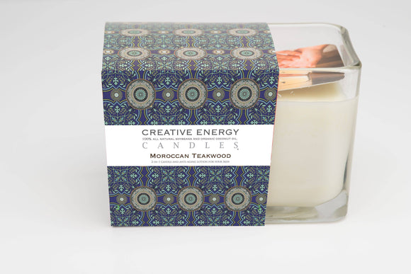 Moroccan Teakwood 2-in-1 Candle