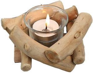 Wooden Tea Light Candle Holder