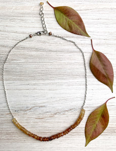 Ombre Amber Garnet Necklace