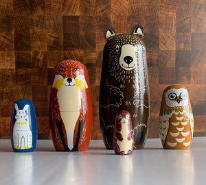 Brown Bear Nesting Doll