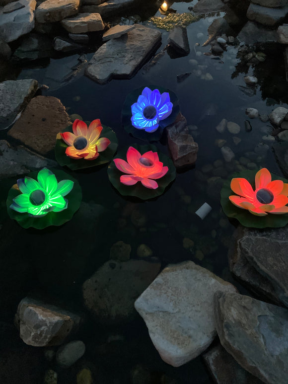 Solar Lily Pad Floating Light