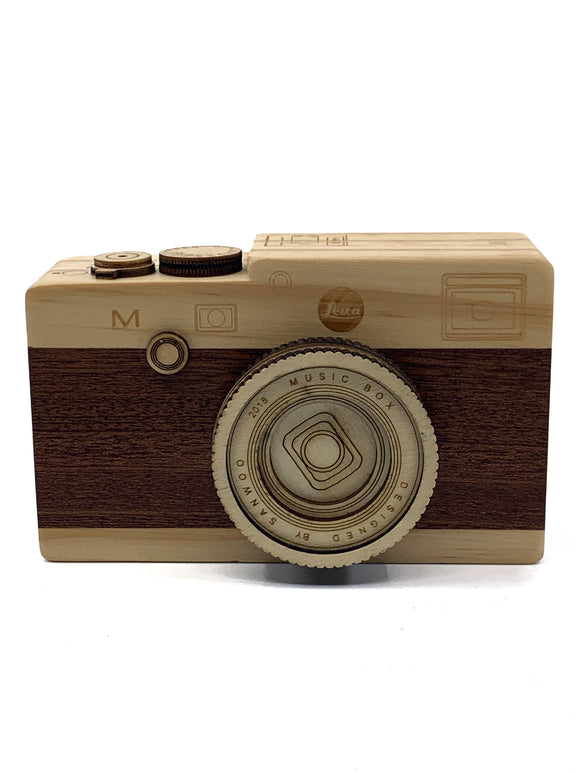 Wooden Camera Music Box