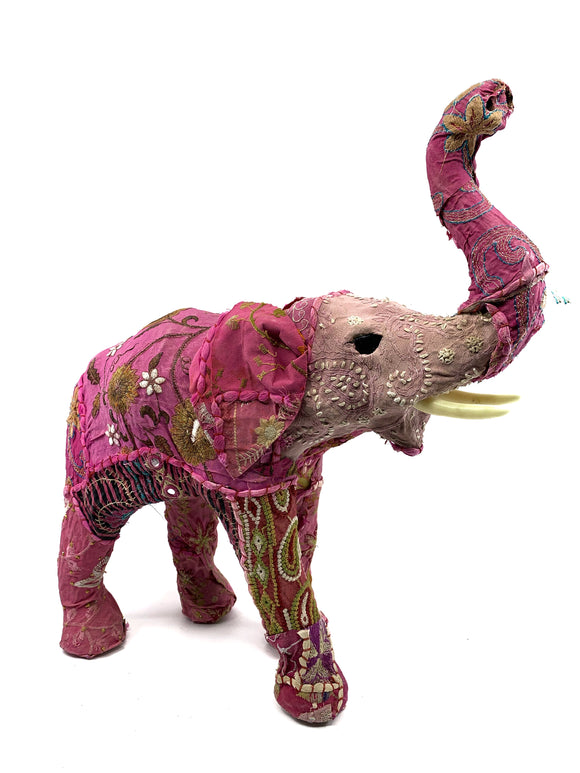 Pink Indian Textile Elephant