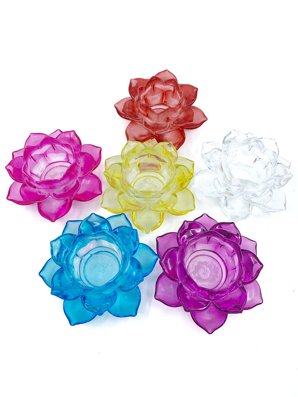 Glass Lotus Votive