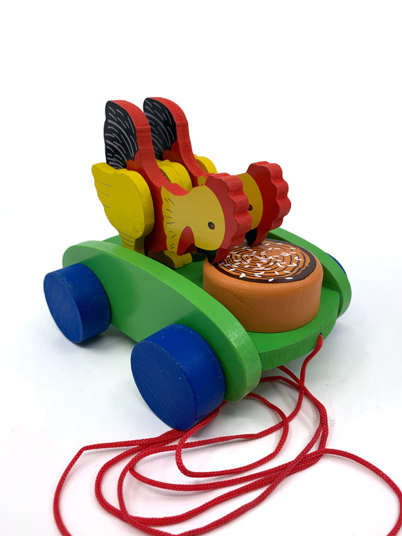 Wooden Chicken Pull Along Toy