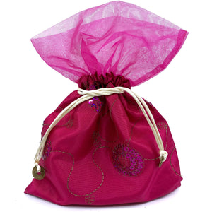 Sequined Drawstring Pouch