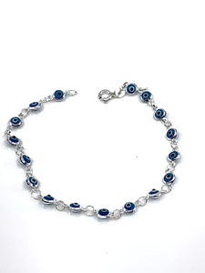 Mini Evil Eye Sterling Bracelet
