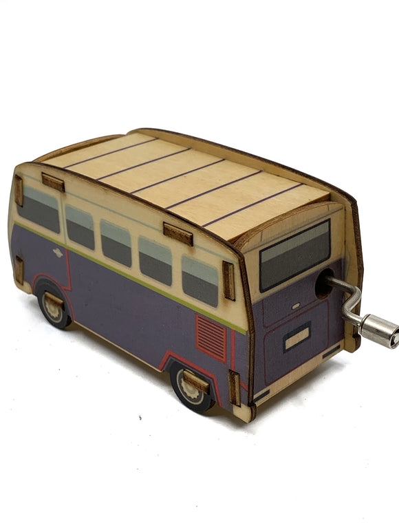 Wooden Bus Music Box