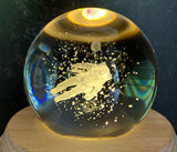 3D Astronaut Crystal ball LED