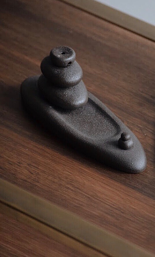 Pebble Backflow Incense Burner