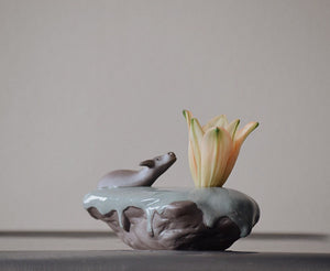 Water Buffalo Bud Vase