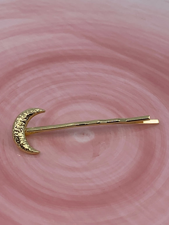 Gold Half Moon Hair Pin