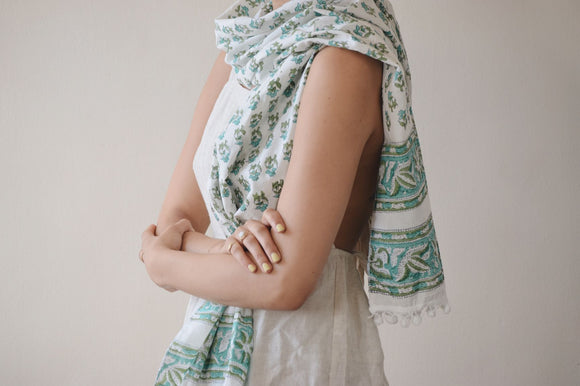 Cotton Block Print Scarf