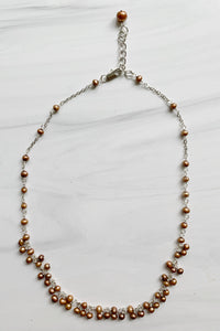 Carmel Baby Pearl Cluster Necklace