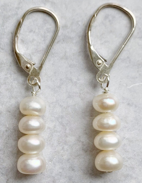 Four Pearl Drop Earring