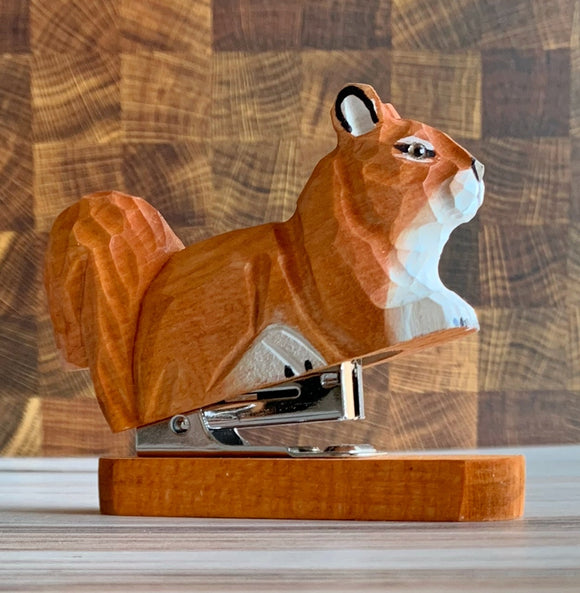Wooden Squirrel Stapler