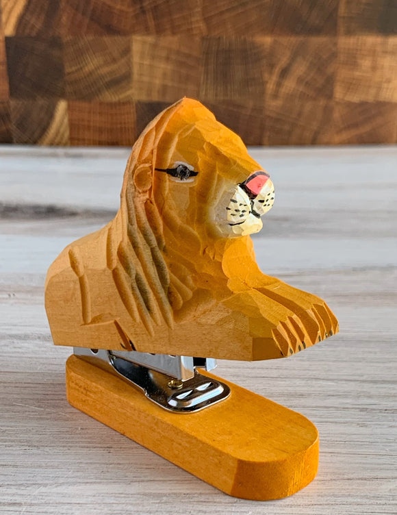 Wooden Lion Stapler