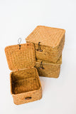 Trio wicker boxes