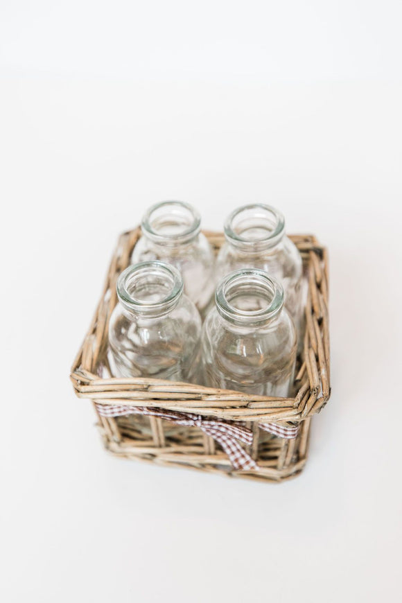 Four Bottle Jute Basket