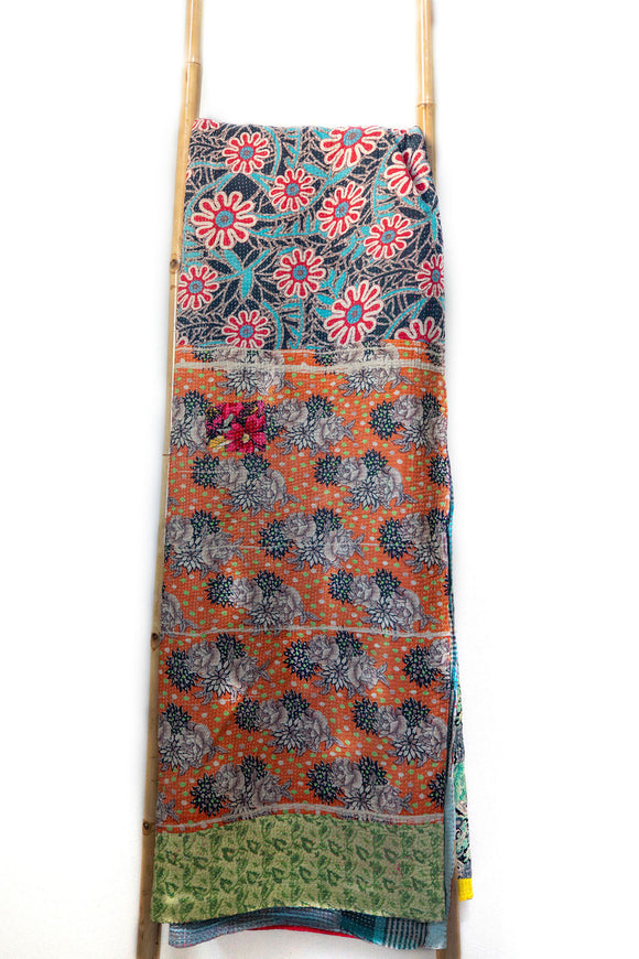 One-of-a-kind Kantha Quilt KN022