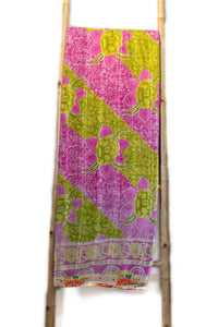 One-of-a-kind Kantha Quilt KN032