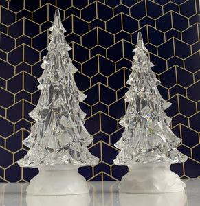 Clear Glitter Christmas tree Medium