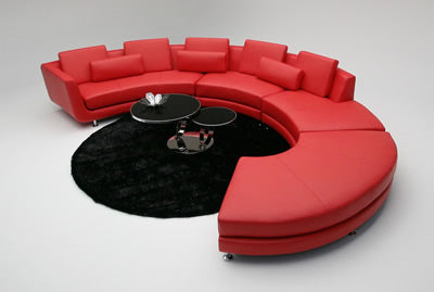 A94 Red Sectional Sofa