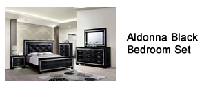 Aldonna Black Bedroom Set