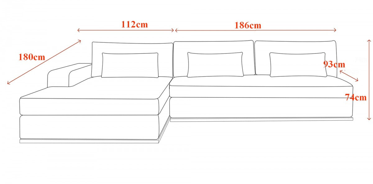 Ashfield Sectional Sofa Grey