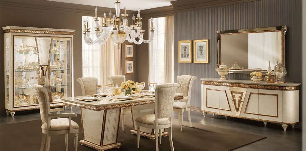 Luxury Classic2Modern Dining Room Furniture made in Italy and Spain