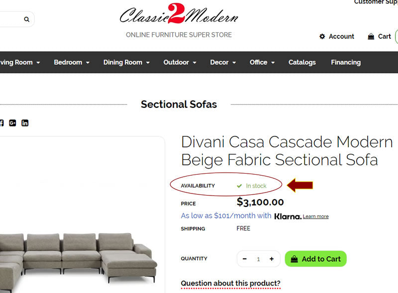 How to use Classic2Modern Furniture website