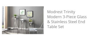 Trinity 3 End Tables Set