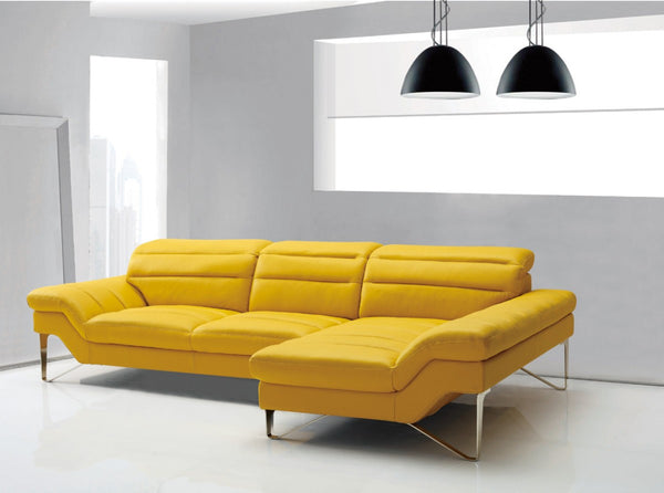 Divani Casa 994b Modern Yellow Leather Sectional Sofa