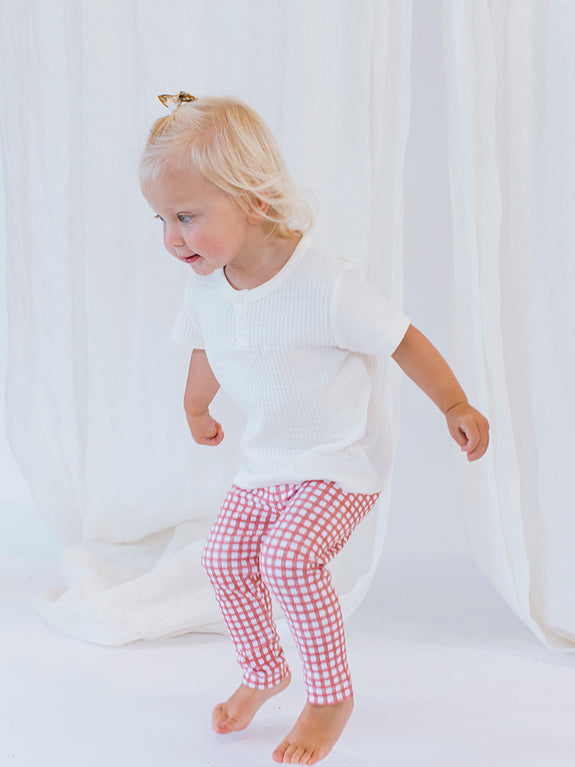 Jersey Legging Cherry Gingham