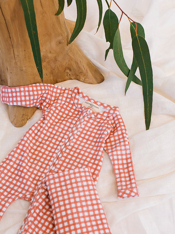 Jersey Swaddle Cherry Gingham
