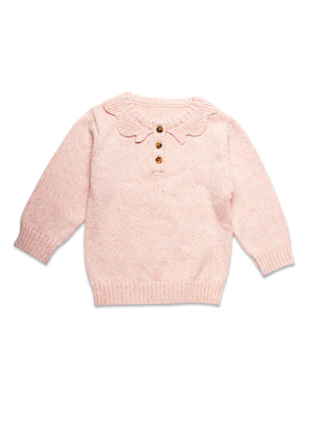Cotton knit jumper Blush