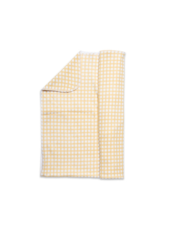 Jersey Swaddle Gingham Yellow
