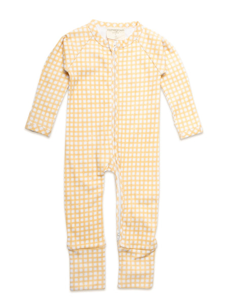 Growsuit Gingham Yellow