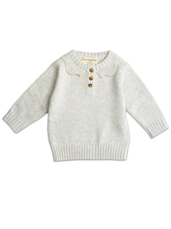 Cotton Knit Jumper Stone