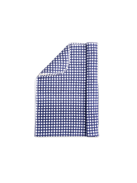 Jersey Swaddle Navy Gingham