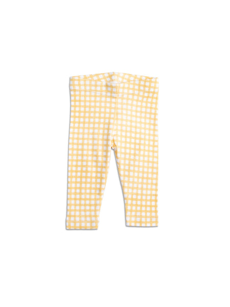 Jersey Legging Gingham Yellow