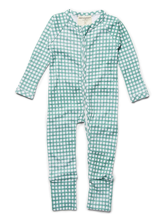 Growsuit Gingham Green