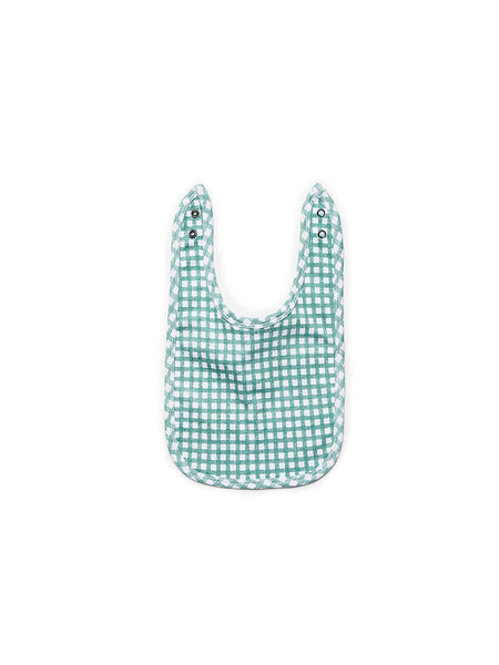 Jersey Bib Gingham Green