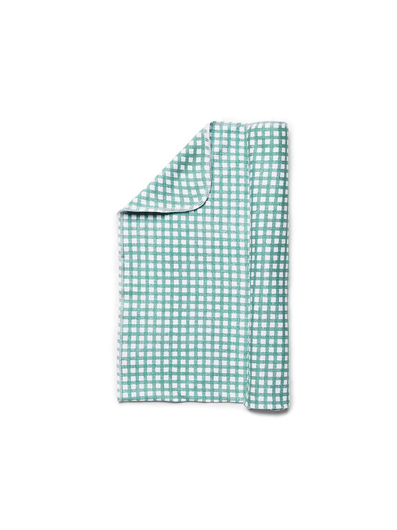 Jersey Swaddle Gingham Green