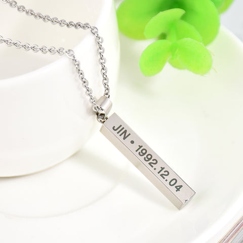 BTS Cuboid Bar Necklace [All Members] - btsmerchstore.com