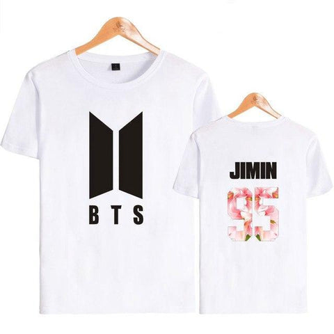 White BTS T-shirt [All Members] - btsmerchstore.com